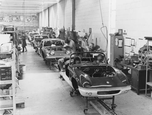Lotus Elan assembly line