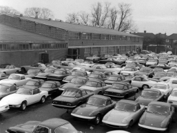Lotus Elans at the Cheshunt factory