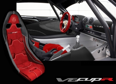 Red interior picture of the Exige V6 Cup R