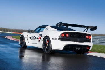 Exterior picture of the Exige V6 Cup R showing rear quarter