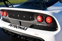 Exterior picture of the Exige V6 Cup R showing rear