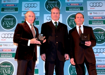 (L-R): Sir Jackie Stewart, Clive Chapman and Jackie Oliver at the 2013 Motor Sport magazine Hall of Fame