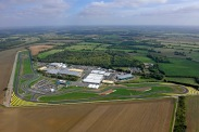 Lotus base at Hethel in the UK showing the FIA approved test track.