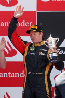 Kimi wins second place at the Spanish GP