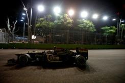 Romain Grosjean, Lotus E21 Renault.