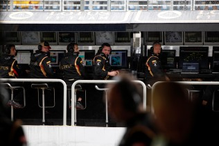 Eric Boullier, Team Principal, Lotus F1, on the pit wall