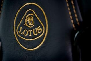 Embroidered 'Lotus F1 Team' logo on seat backs
